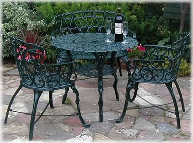 Buy garden furniture patio sets garden benches uk Cast iron garden furniture