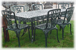 Xlarge cast iron rose patio set