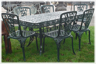 Extra Large Rose Cast Iron Furniture Set