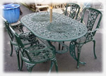 Oval rose patio set