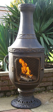 Buy The Classic Urn Style Cast Iron Chiminea Online From