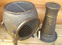 Buy The Basketweave Cast Iron Chiminea Online From The