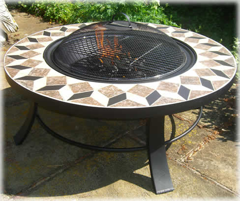 Round Table Fire Pit Braziers Fire Baskets Copper