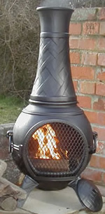 Buy The 43inch Basket Weave Cast Iron Chiminea Online From