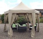 Charndon Gazebo with curtains