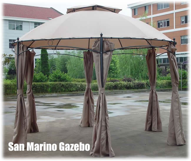 luxury gazebo with curtains 1