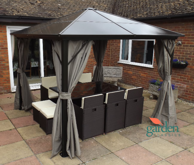 Gazebo Luxury Swanbourne 3m X 3m Fixed Roof Gazebo Hot