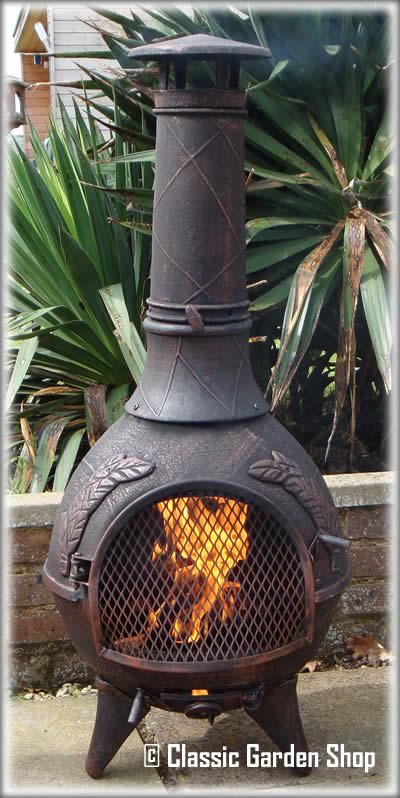 Castmaster Aztec Calico Cast Iron Barbecue Chiminea