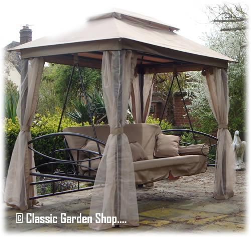 Orlando Garden Patio Gazebo Swing Hammock Bench Seat Ebay