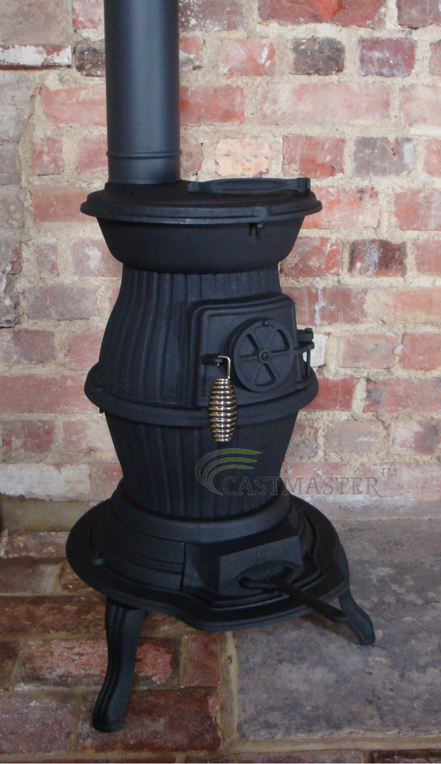 CAST-IRON-POT-BELLY-WOOD-BURNING-STOVE-NARROW- - CAST IRON POT BELLY WOOD BURNING STOVE, NARROW BOAT, WORKSHOP