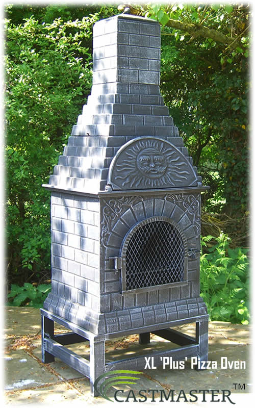 castmaster outdoor garden cast iron pizza oven chiminea