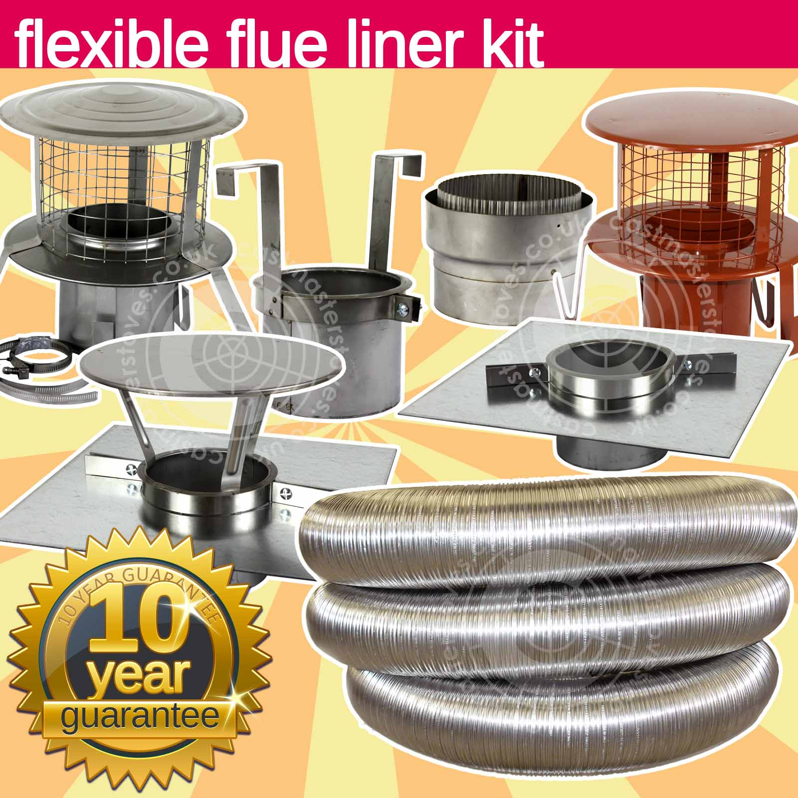 Astounding Details About 6 Inch 150Mm Stainless Steel Flue Liner Fitting Kit For Wood Burning Stoves Home Remodeling Inspirations Genioncuboardxyz