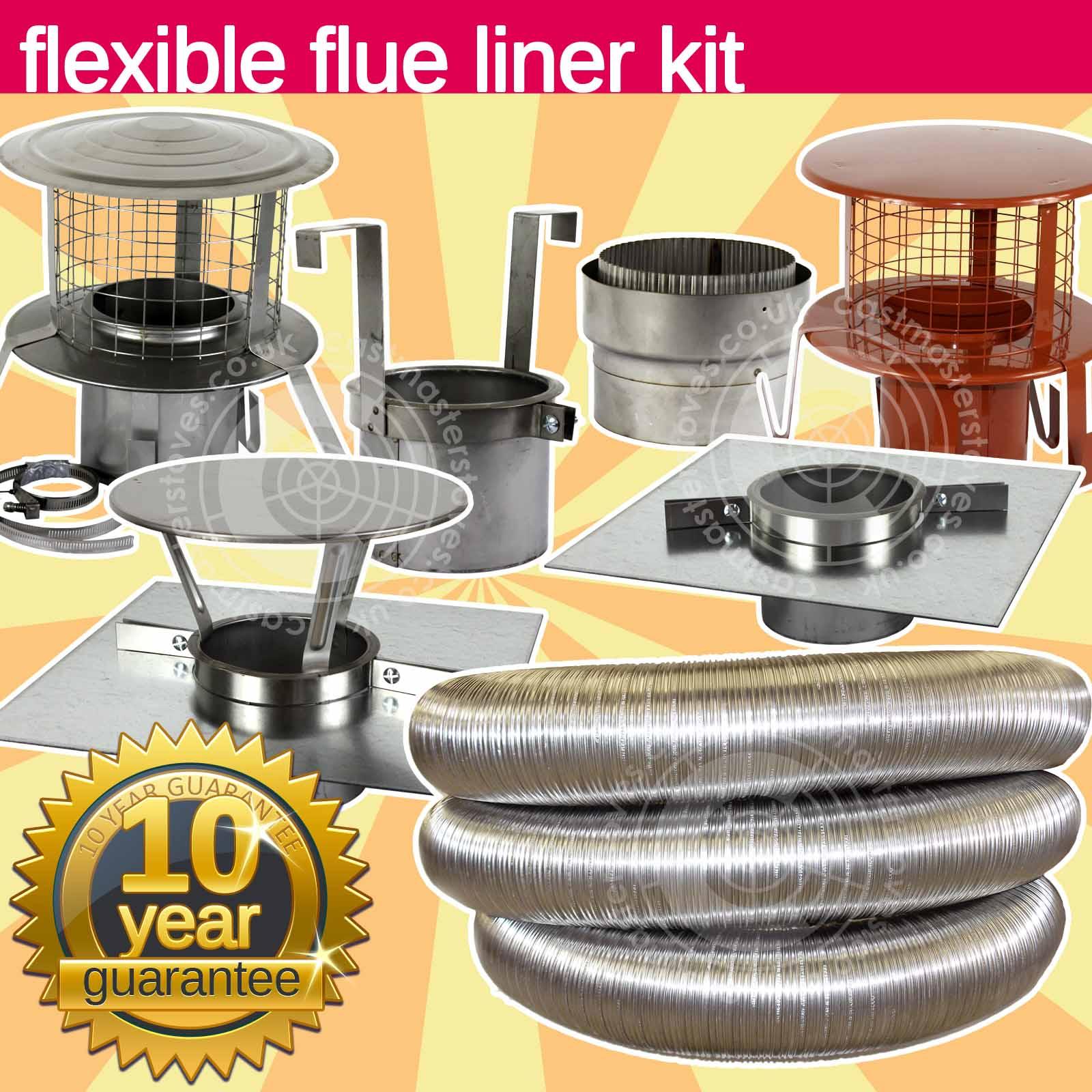 6 Quot Inch 150mm Stainless Steel Flue Liner Amp Fitting Kit For
