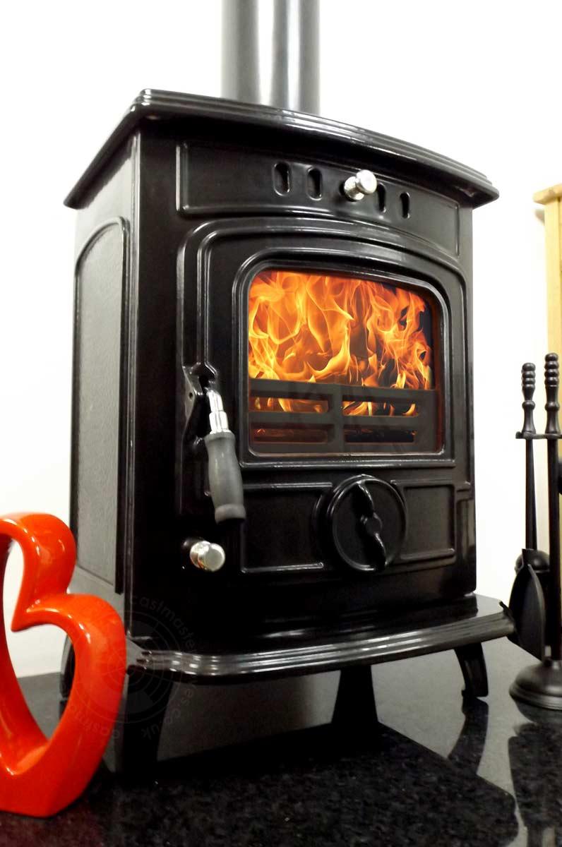 gabriel black enamel wood burning stove gabriel black enamel wood burning  stove ... - CAST IRON ENAMEL BACK BOILER LOG WOOD BURNING MULTIFUEL STOVE