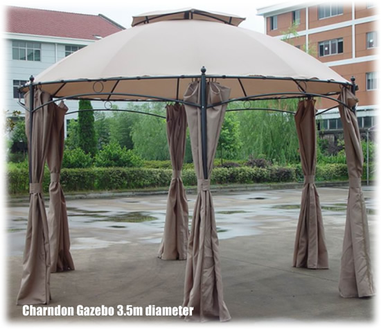 Charndon Garden Patio Gazebo Hot Tub Privacy Curtains Ebay