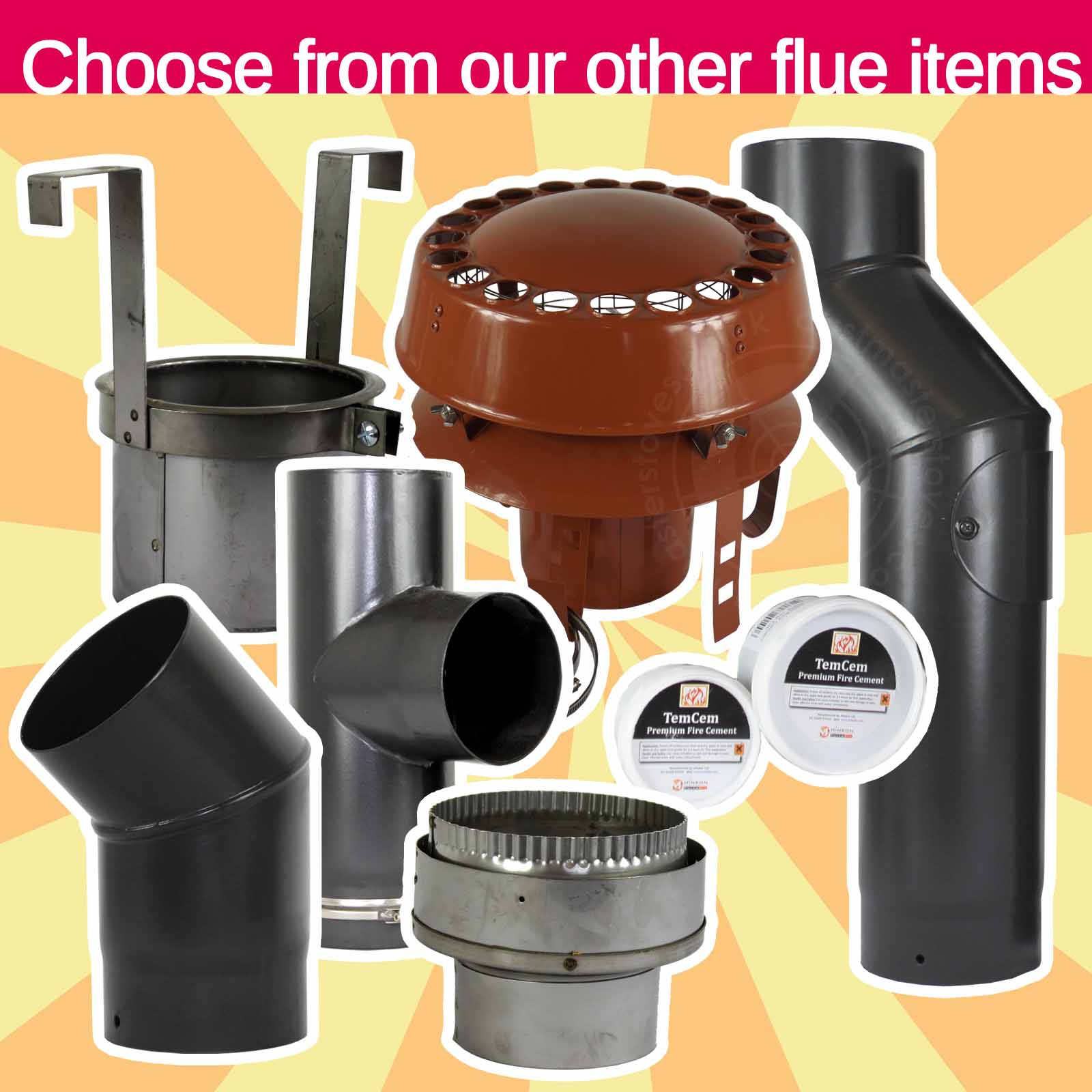 Socket Chimney Flue Liner Tee Piece Stainless Steel 90 Degree T Piece with Cap