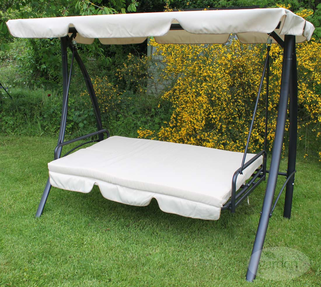 innovative luxury verona garden bed swing perfect for those lazy summer afternoons verona patio garden hammock bed 3 seat swing hanging sun lounger      rh   ebay co uk